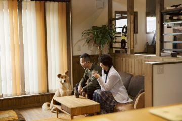 ひと目ぼれした、 愛犬と孫と楽しく暮らせる家。